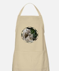 Kiss love peace and joy white tigers lovers  Apron