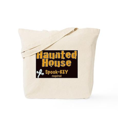 Haunted House Spook-key yard sign Tote Bag