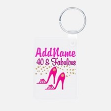 FABULOUS 40TH Keychains