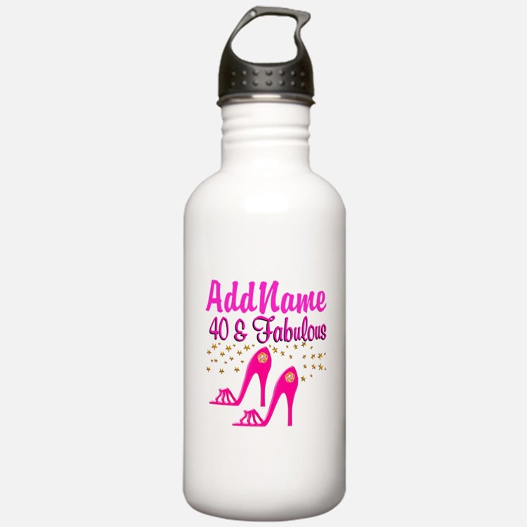 FABULOUS 40TH Water Bottle