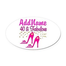 FABULOUS 40TH Oval Car Magnet