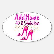 FABULOUS 40TH Decal