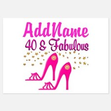 FABULOUS 40TH Invitations
