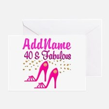 FABULOUS 40TH Greeting Card