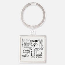 All Classes Square Keychain