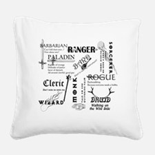 All Classes Square Canvas Pillow