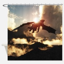 Home of the Dragons Shower Curtain