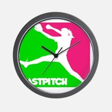 GWP Pitcher Fastpitch Wall Clock