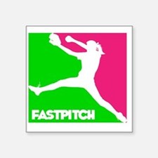 "GWP Pitcher Fastpitch Square Sticker 3"" x 3"""