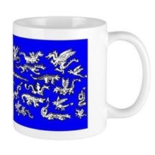 Lots O' Dragons Blue Mug