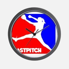 RWB Pitcher Fastpitch Wall Clock