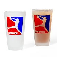 RWB Pitcher Fastpitch Drinking Glass