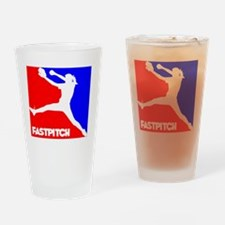 RWB Pitcher Fastpitch Drinking Glass