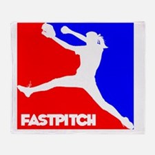 RWB Pitcher Fastpitch Throw Blanket