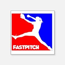 "RWB Pitcher Fastpitch Square Sticker 3"" x 3"""