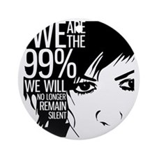 Anonymous 99% Occupy t-shirt Round Ornament