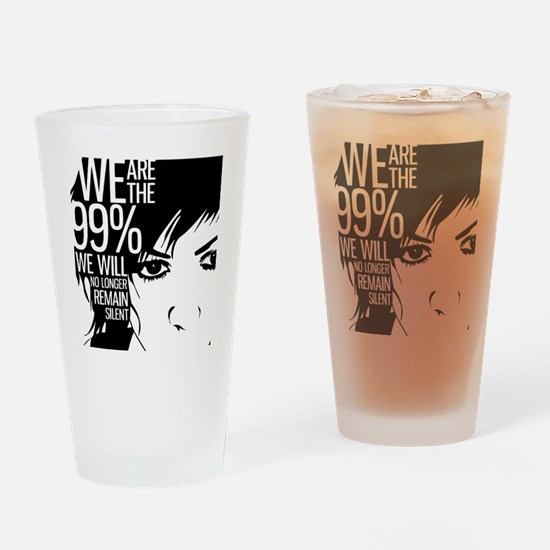 Anonymous 99% Occupy t-shirt Drinking Glass