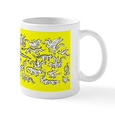Lots O' Dragons Yellow Mug