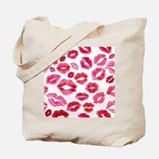Lipstick Prints Tote Bag