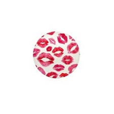 Lipstick Prints Mini Button