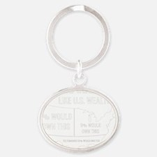 Anonymous 99% Occupy t-shirt Oval Keychain