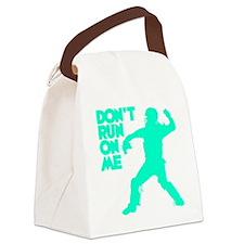 blue2 Dont Run Canvas Lunch Bag