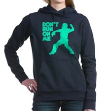blue2 Dont Run Hooded Sweatshirt