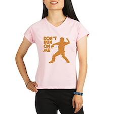 gold Dont Run Performance Dry T-Shirt