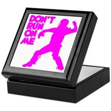 pink Dont Run Keepsake Box