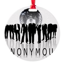 Anonymous 99% Occupy t-shirt Ornament