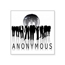 """Anonymous 99% Occupy t-shir Square Sticker 3"""" x 3"""""""