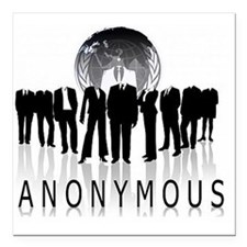 "Anonymous 99% Occupy t-s Square Car Magnet 3"" x 3"""