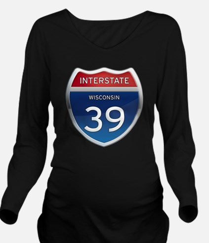 Interstate 39 Long Sleeve Maternity T-Shirt