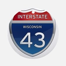 Interstate 43 Round Ornament