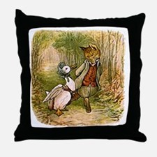 The Fox and Jemima Puddle-Duck Throw Pillow