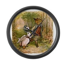 The Fox and Jemima Puddle-Duck Large Wall Clock