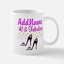 GLAMOROUS 40TH Small Small Mug