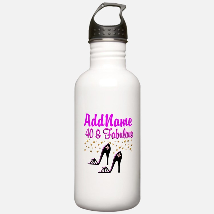 GLAMOROUS 40TH Sports Water Bottle