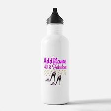 GLAMOROUS 40TH Water Bottle