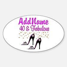 GLAMOROUS 40TH Decal