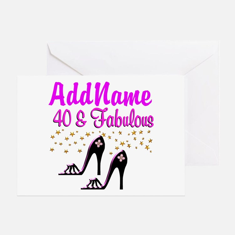GLAMOROUS 40TH Greeting Card