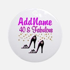GLAMOROUS 40TH Ornament (Round)