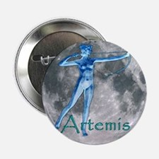 "Artemis Moon greek god huntin 2.25"" Button (10 pac"