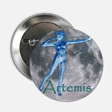 Artemis Moon greek god huntin Button