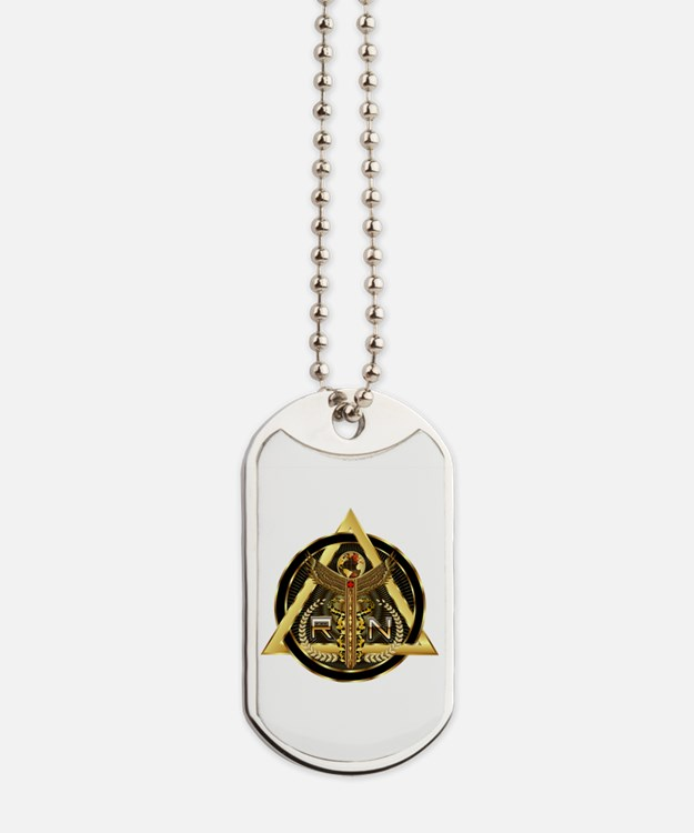 Medical RN Universal Design 1 Dog Tags