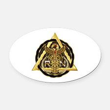 Medical RN Universal Design 1 Oval Car Magnet