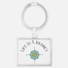 Life Is A Journey Landscape Keychain
