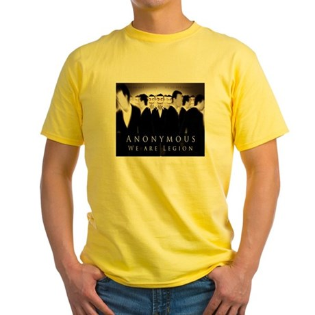 Anonymous 99% Occupy t-shirt Yellow T-Shirt