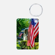 American Flags in the Neig Keychains