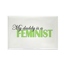 Daddy Feminist Rectangle Magnet